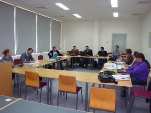 Η ομάδα εργασίας των εταίρων του προγράμματος  LIFE-AMIBIO κατά τη συνάντηση στην Πάτρα